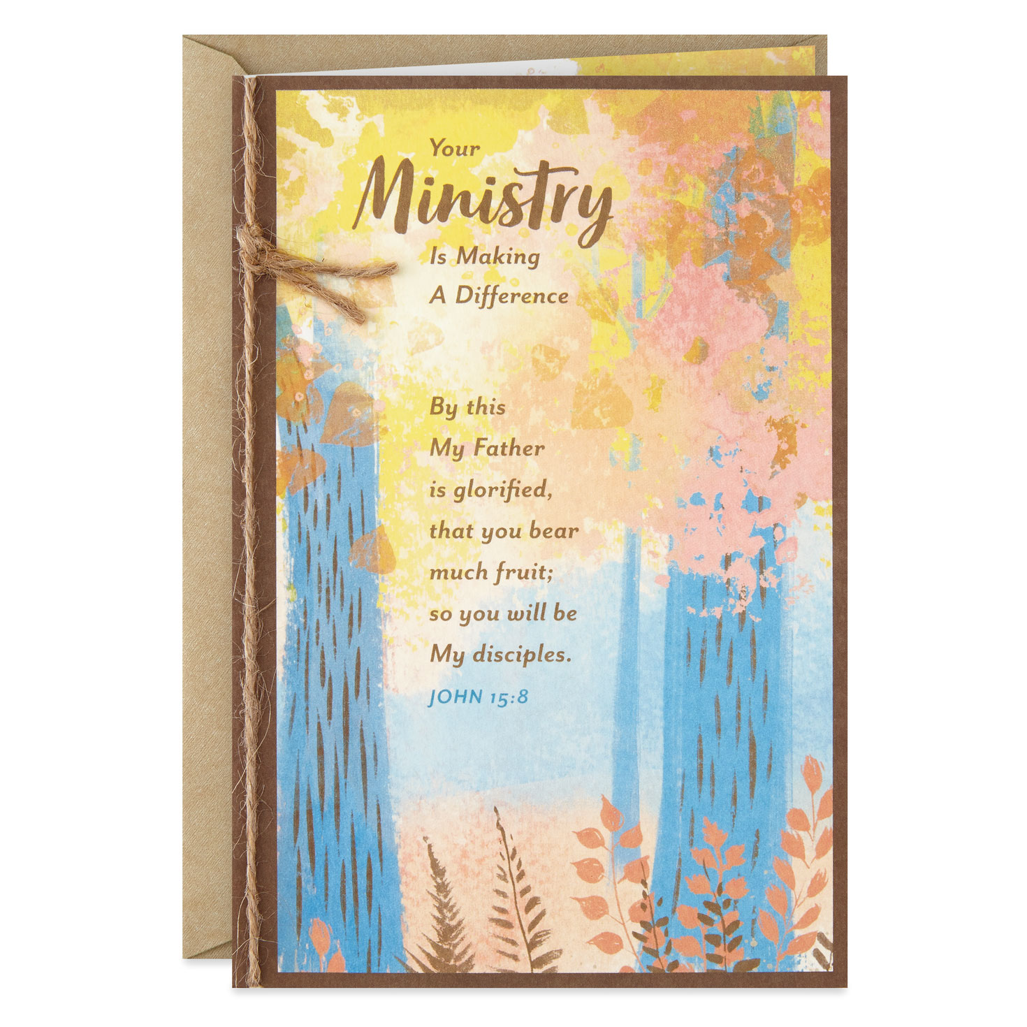 your ministry makes a difference religious thank you card