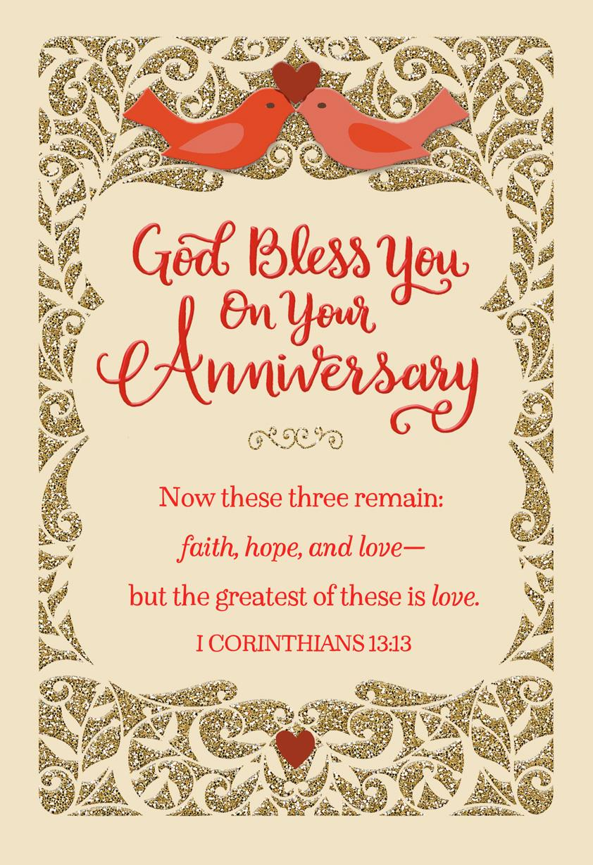 faith  hope and love religious anniversary card