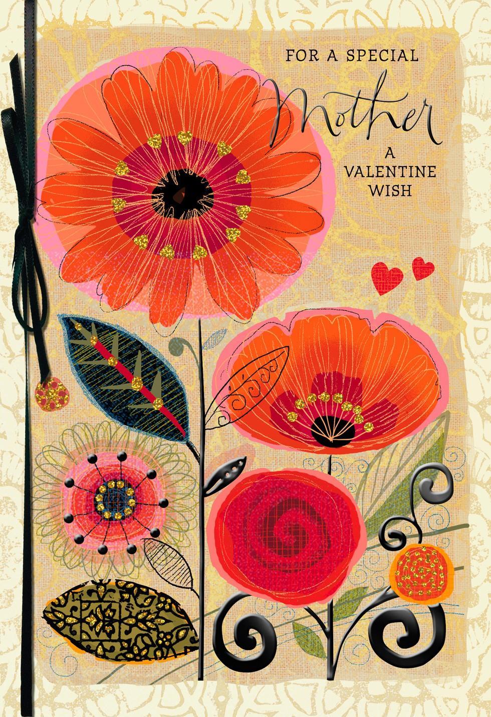 loving wishes for mom valentines day card - Mom Valentine