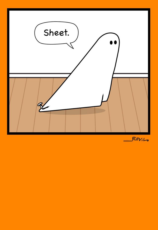 holy sheet ghost funny halloween card - greeting cards - hallmark