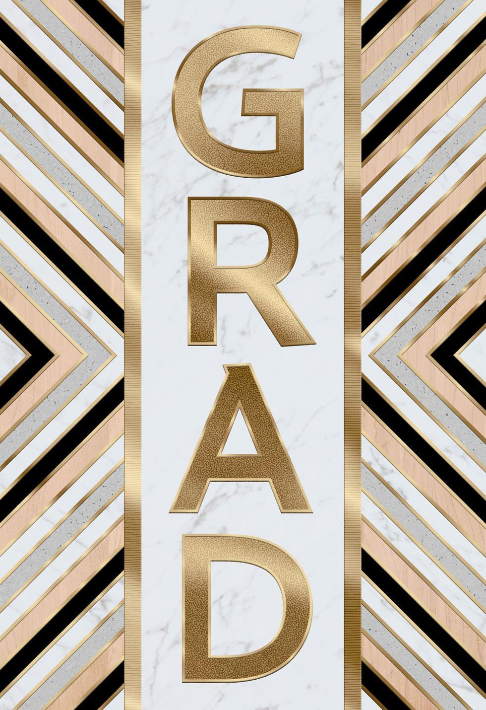 White Marble Graduation Card - Greeting Cards - Hallmark