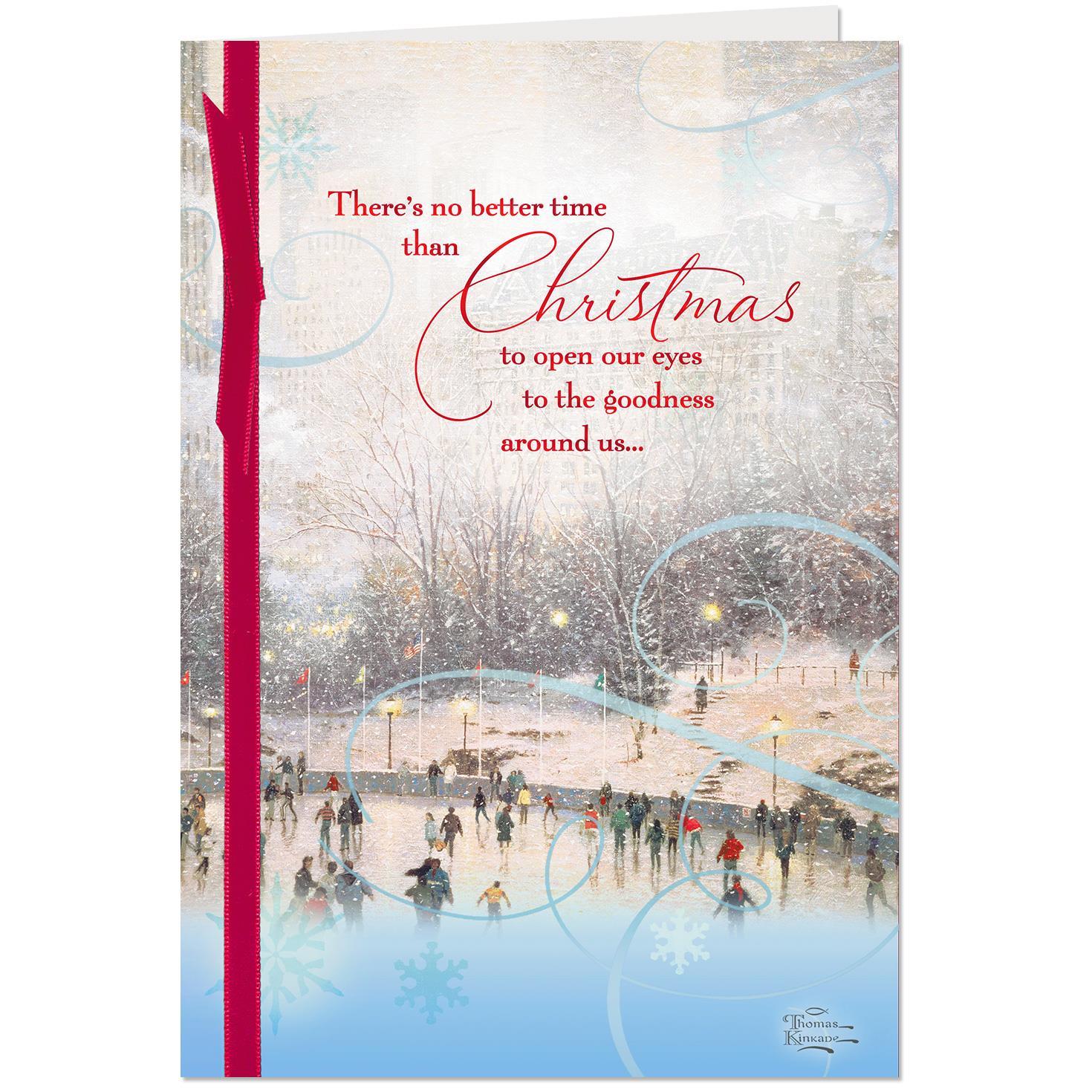 Thomas Kinkade Skating in the Park Christmas Card - Greeting Cards ...