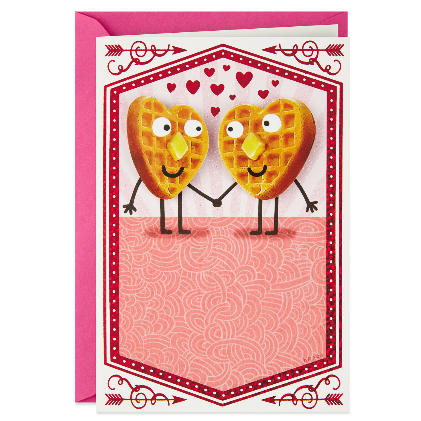 i love you a waffle lot valentine's day card  greeting