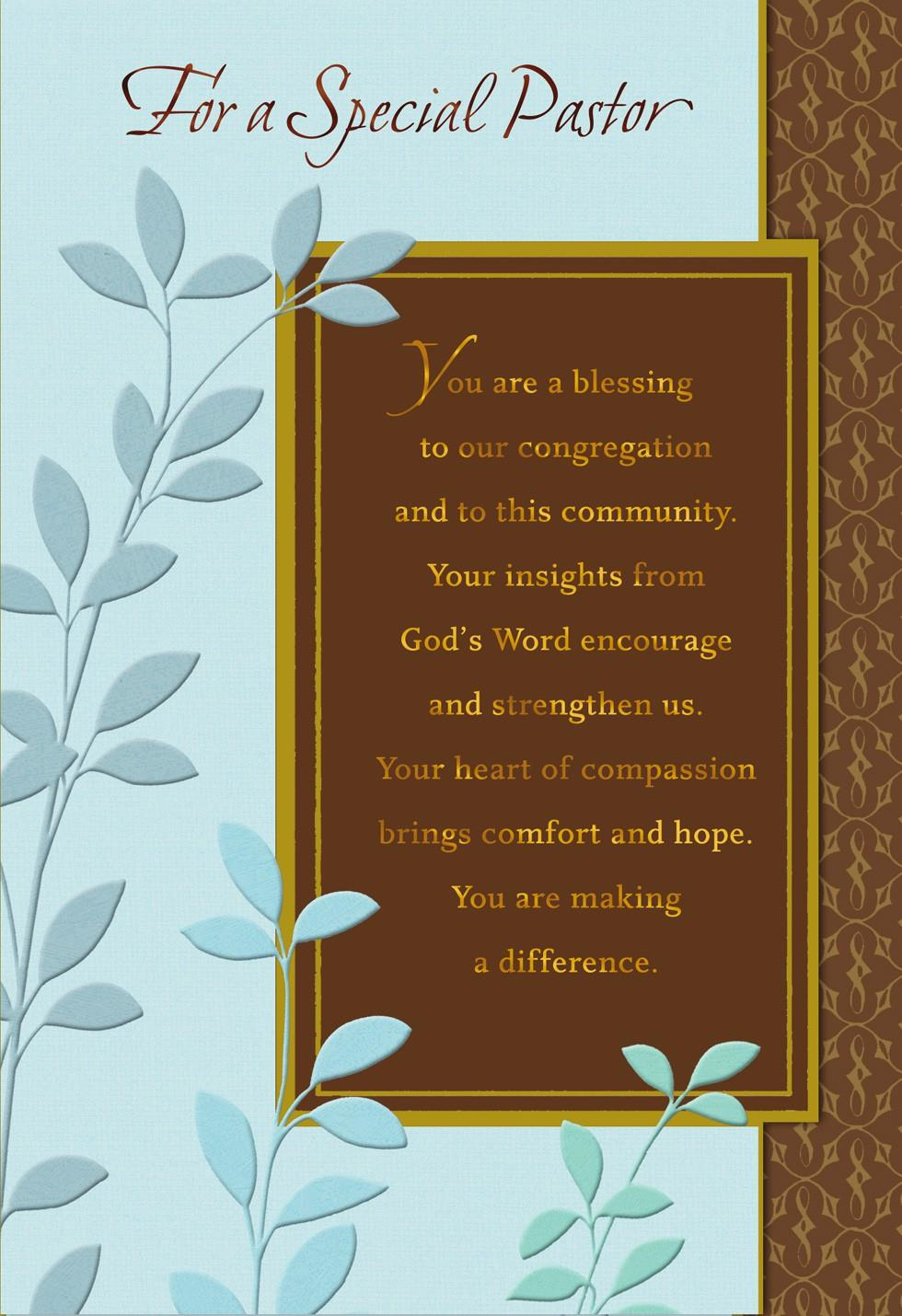 You're a Blessing, Pastor Anniversary Card - Greeting ...