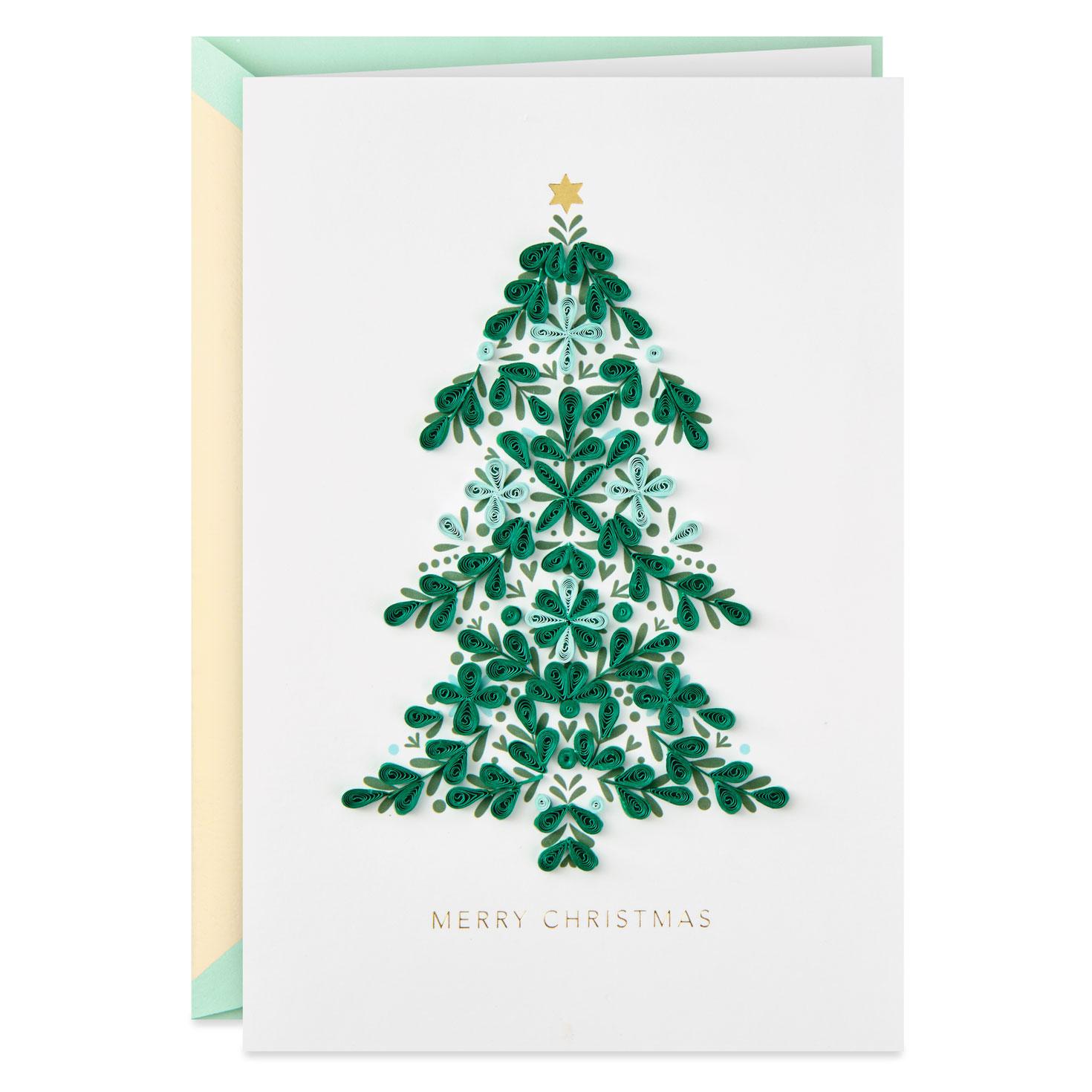 Christmas Tree Frameable Art Christmas Card