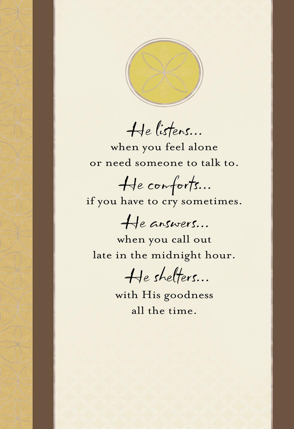 God Walks Beside You Religious Sympathy Card Greeting Cards Hallmark