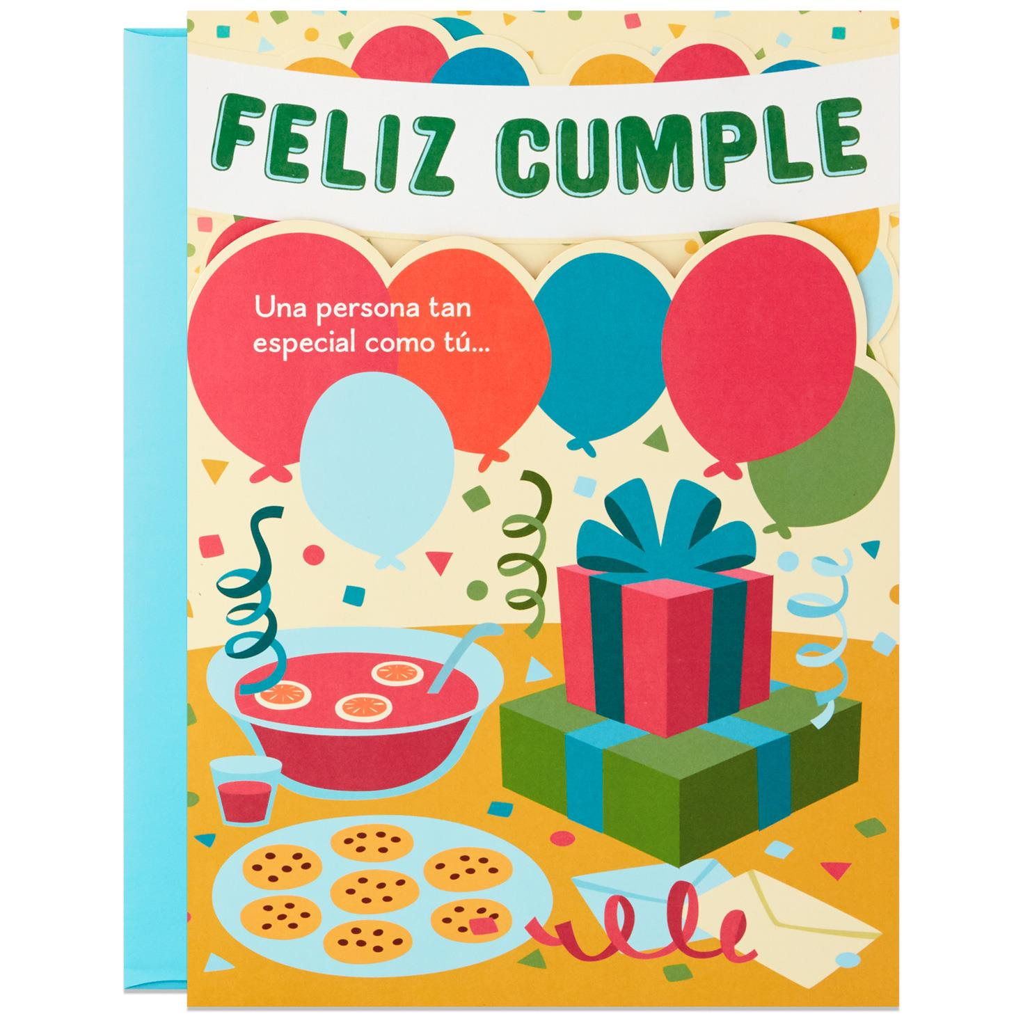 Crowd On In! Large Spanish-Language Pop Up Birthday Card