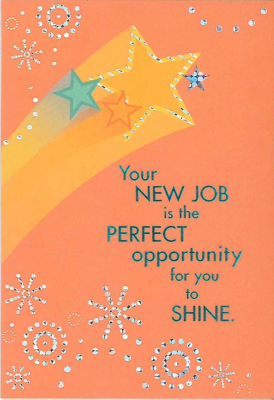 shining star new job congratulations card  greeting cards