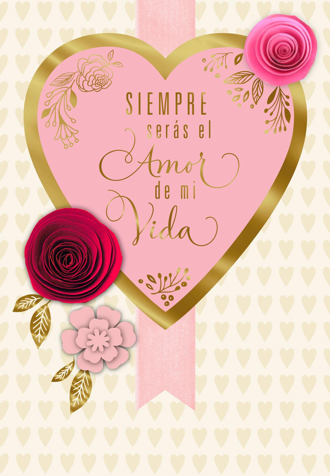 Love Of My Life Spanish Language Valentines Day Card For Her