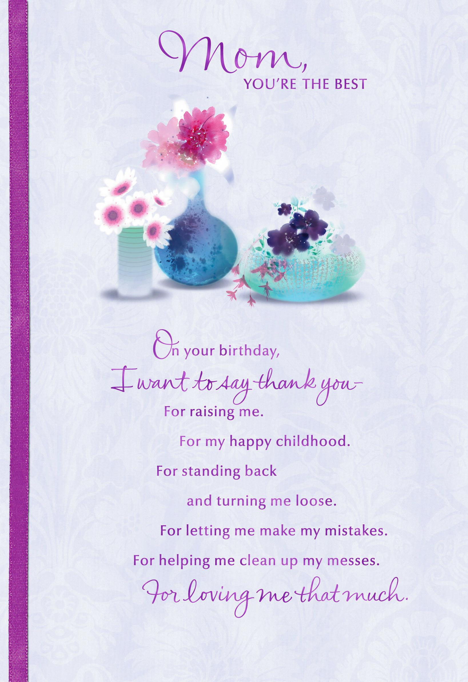mom you're the best birthday card  greeting cards  hallmark