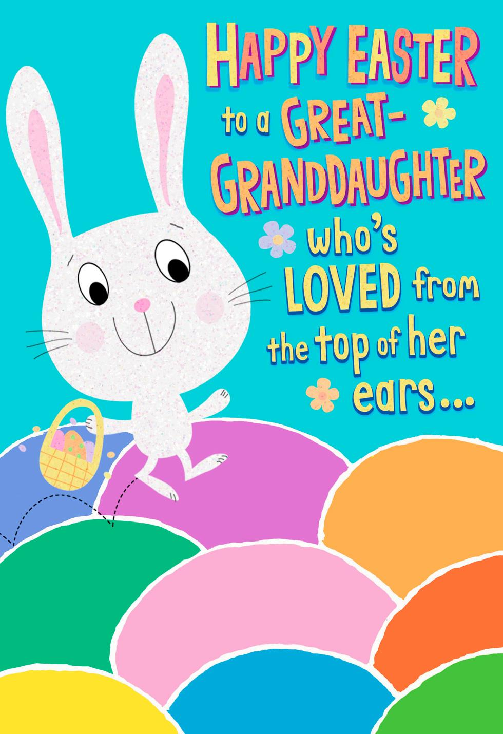Easter cards gifts ornaments hallmark great granddaughter colorful eggs easter card negle Choice Image