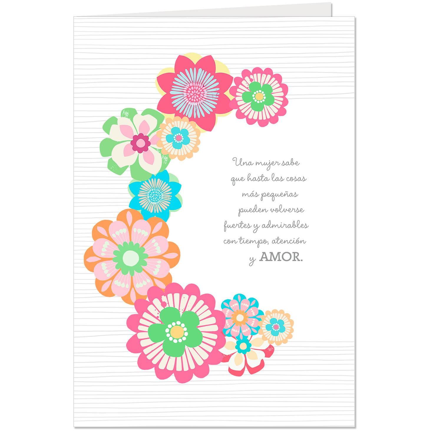 My Beautiful Inspiration Pop Up Spanish Language Birthday Card For Mother