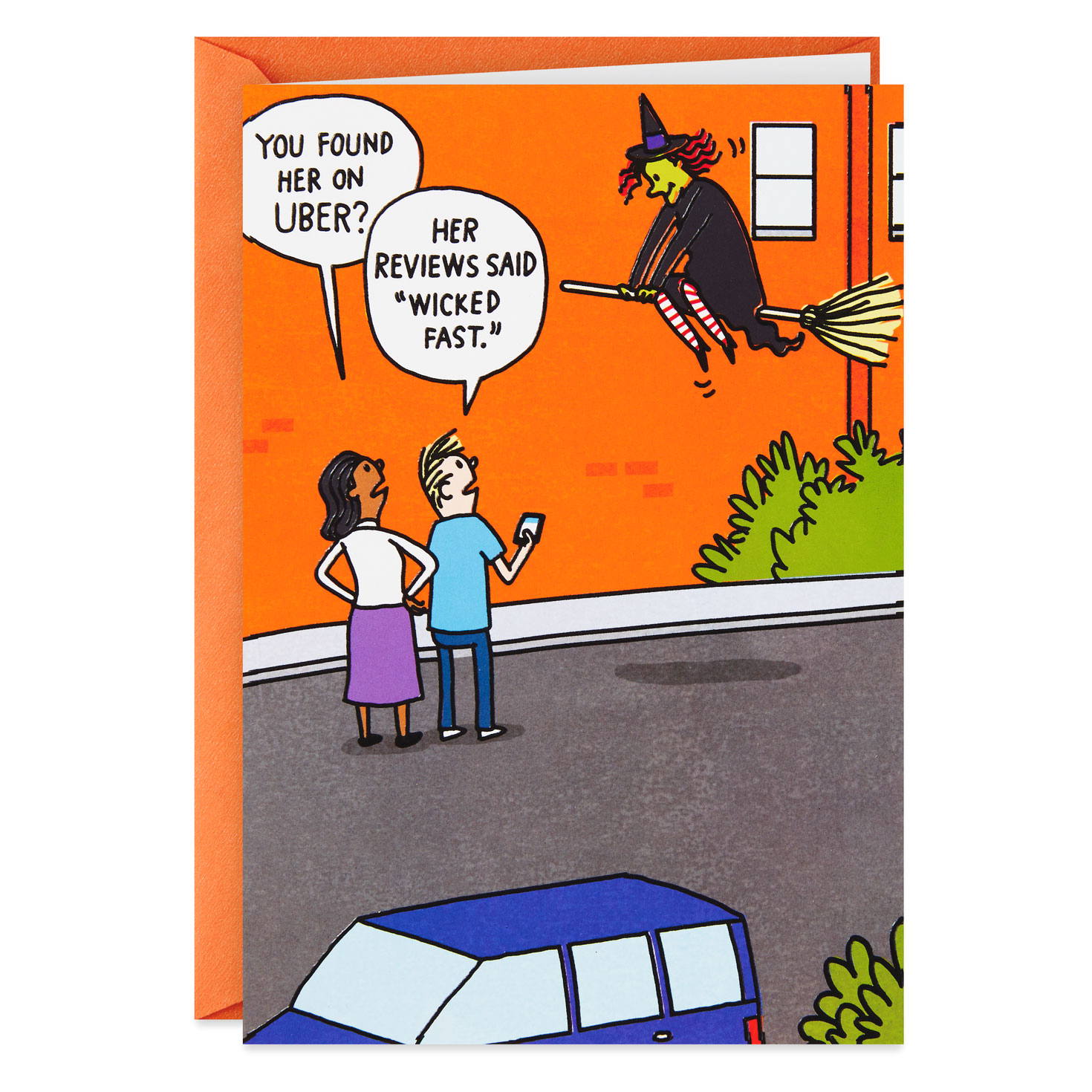 Wicked Good Witch Funny Halloween Card Greeting Cards