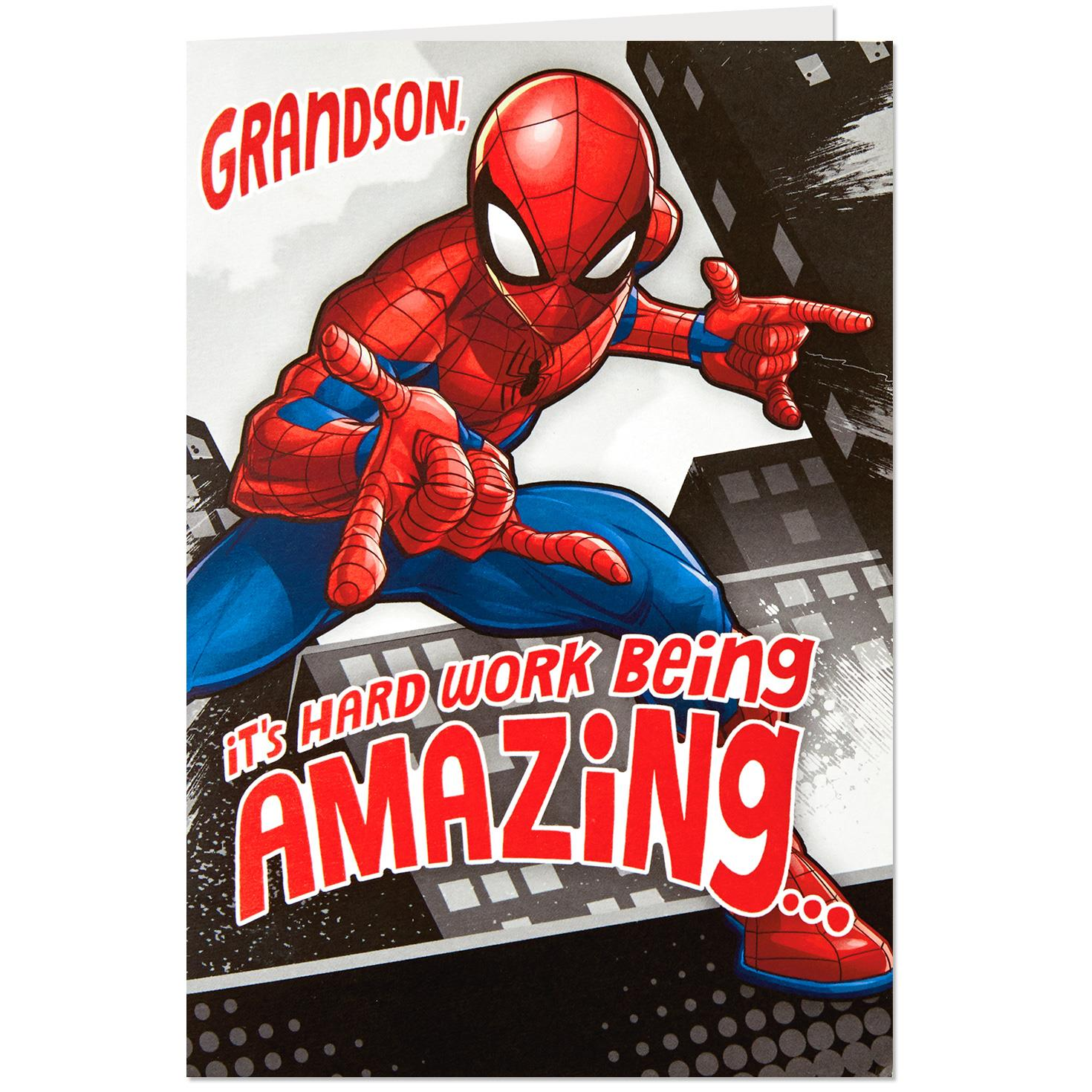 Spider man pop up musical birthday card for grandson greeting spider man pop up musical birthday card for grandson bookmarktalkfo Image collections