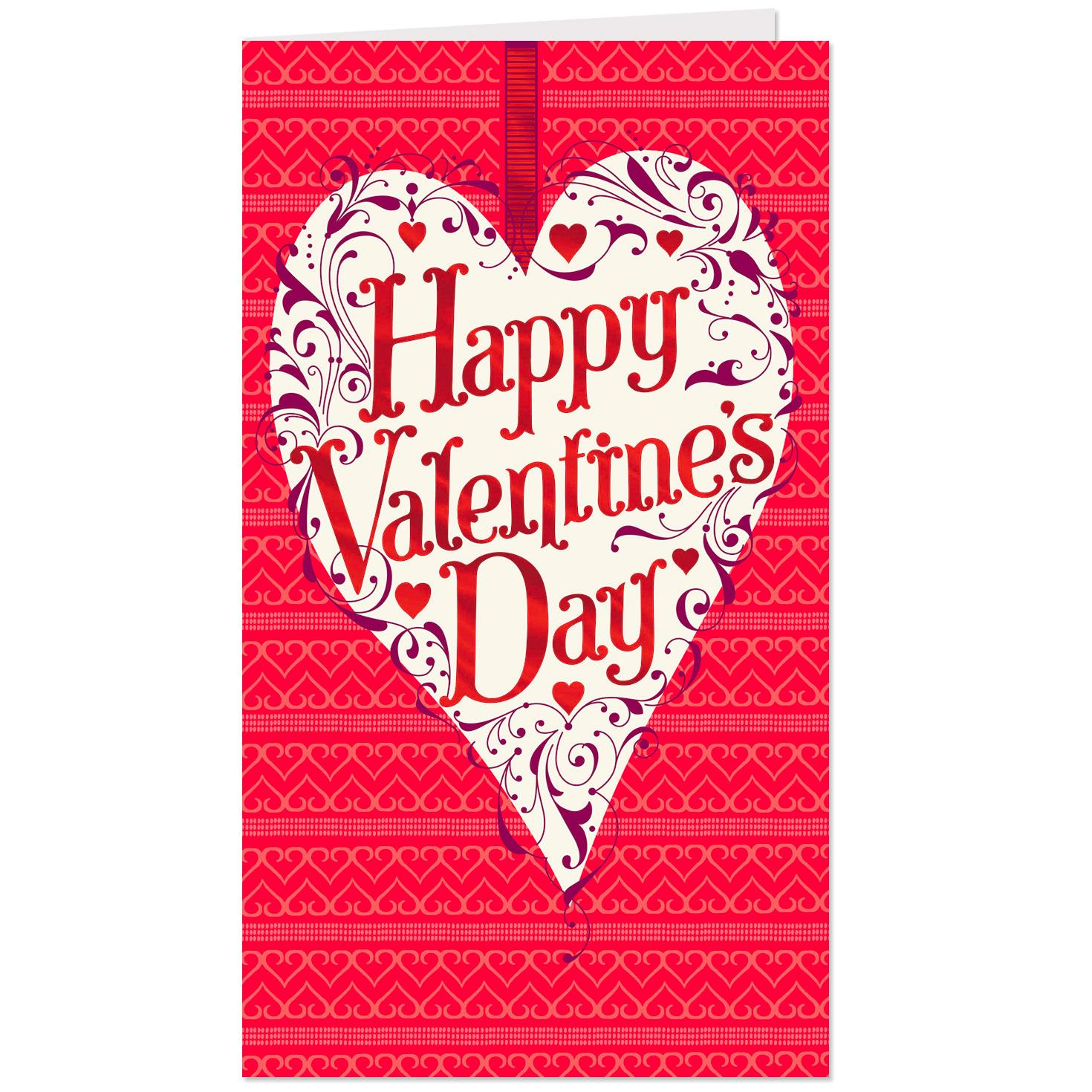 sent with love valentine's day cards pack of 6  boxed