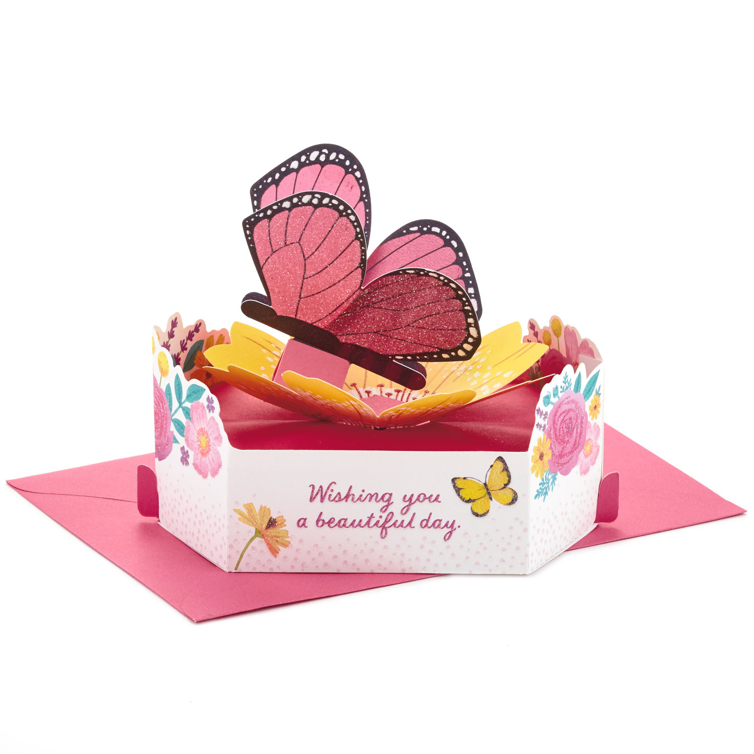 beautiful day butterfly mini 3d popup thinking of you