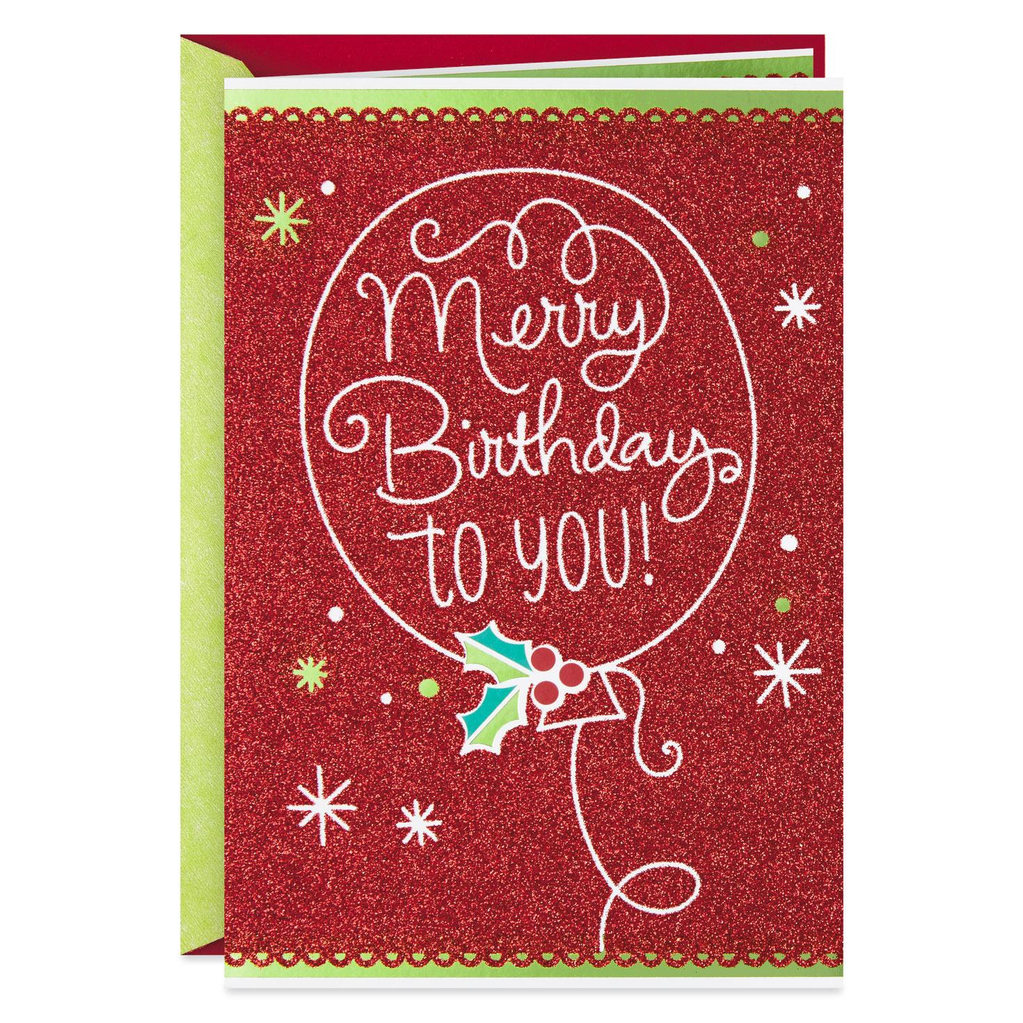 Baby Logo Collection: Merry Birthday December 25th Birthday Christmas Card