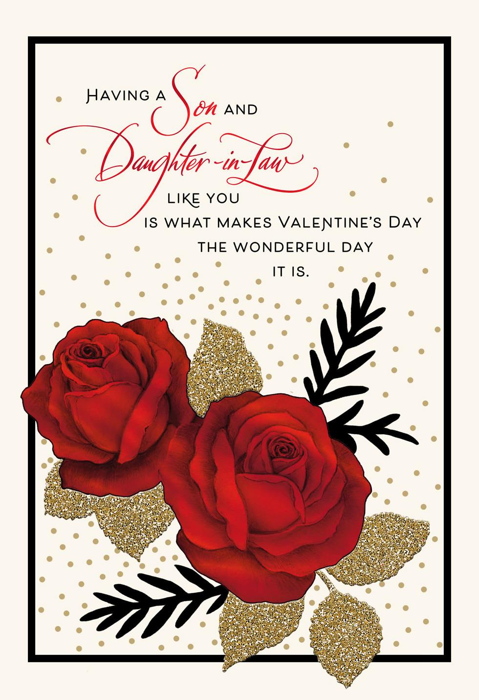Pride and gratitude valentines day card for son and daughter in law pride and gratitude valentines day card for son and daughter in law m4hsunfo