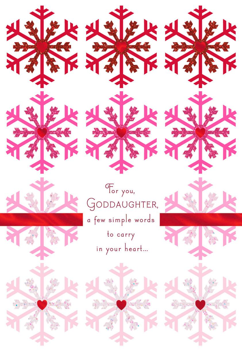 Snowflakes of Love Christmas Card for Goddaughter Greeting Cards – Goddaughter Birthday Cards