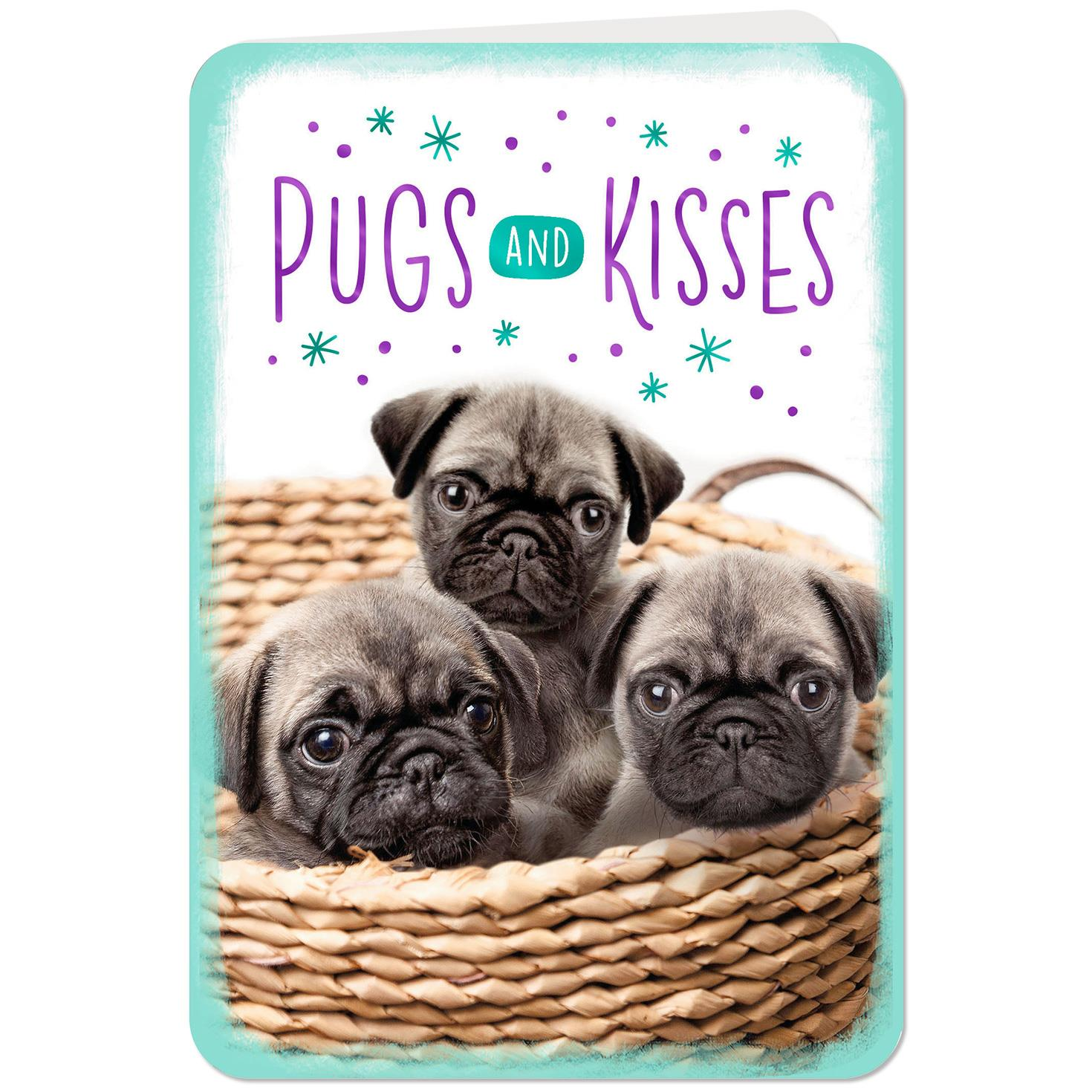 Pugs And Kisses Love Card Greeting Cards Hallmark