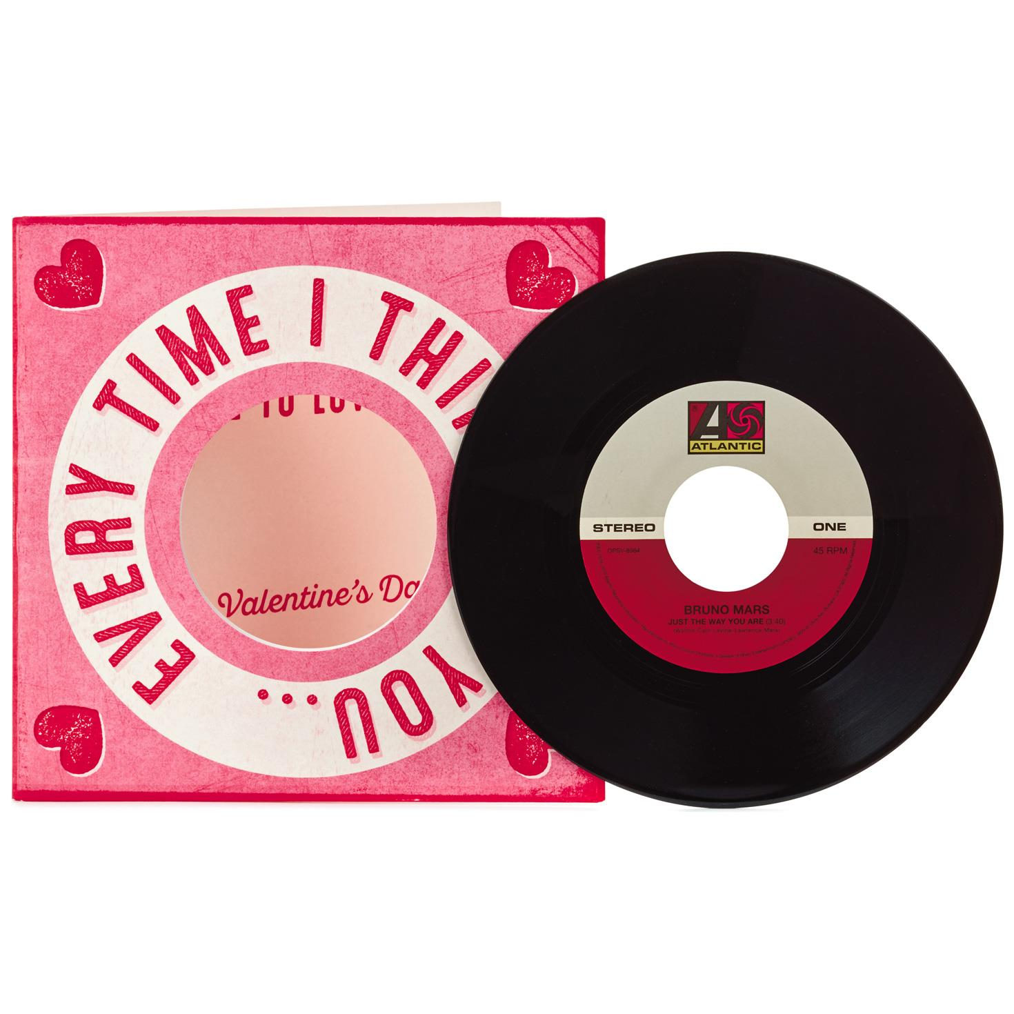 more to love valentines day card with vinyl record - Pictures Of Valentines Day Cards
