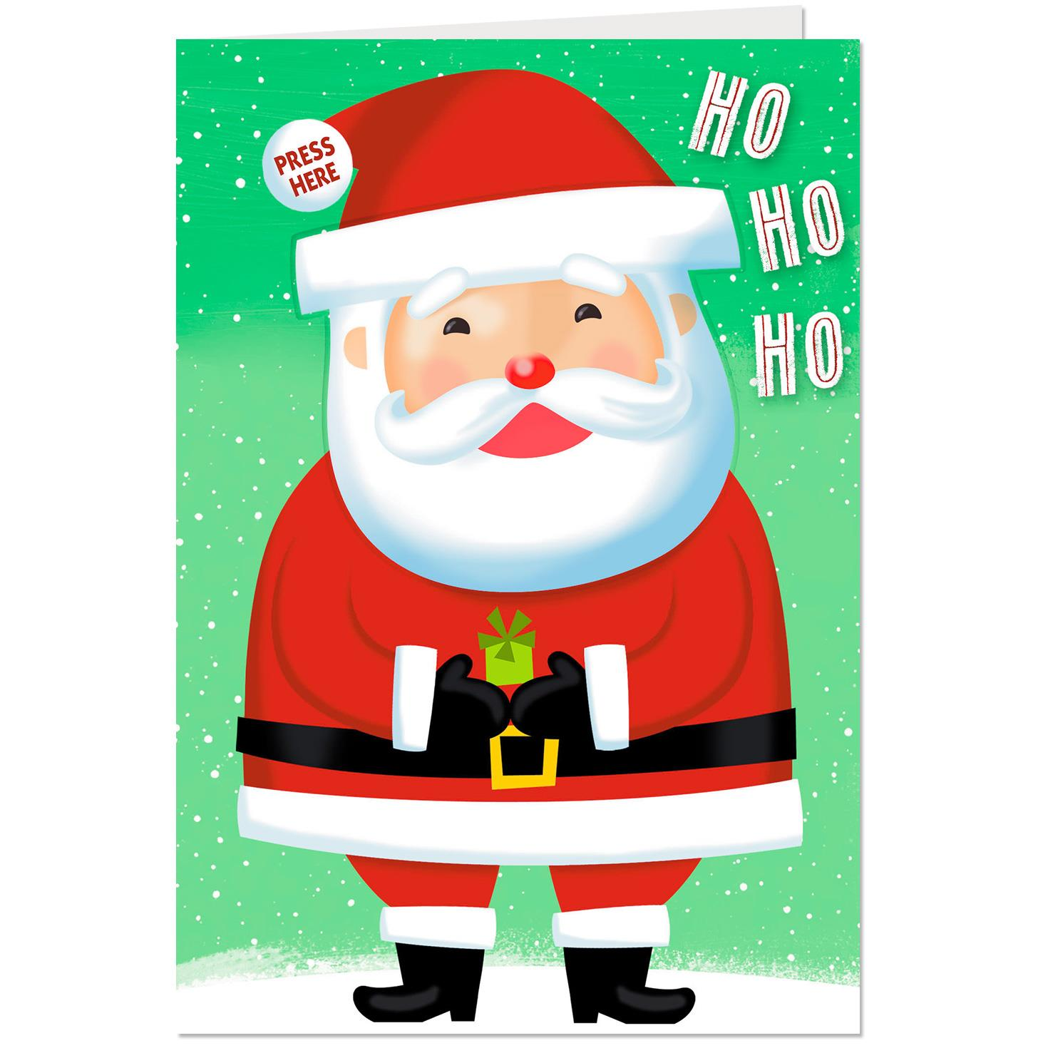 Ho Ho Ho Christmas Card With Sound and Light Greeting Cards Hallmark