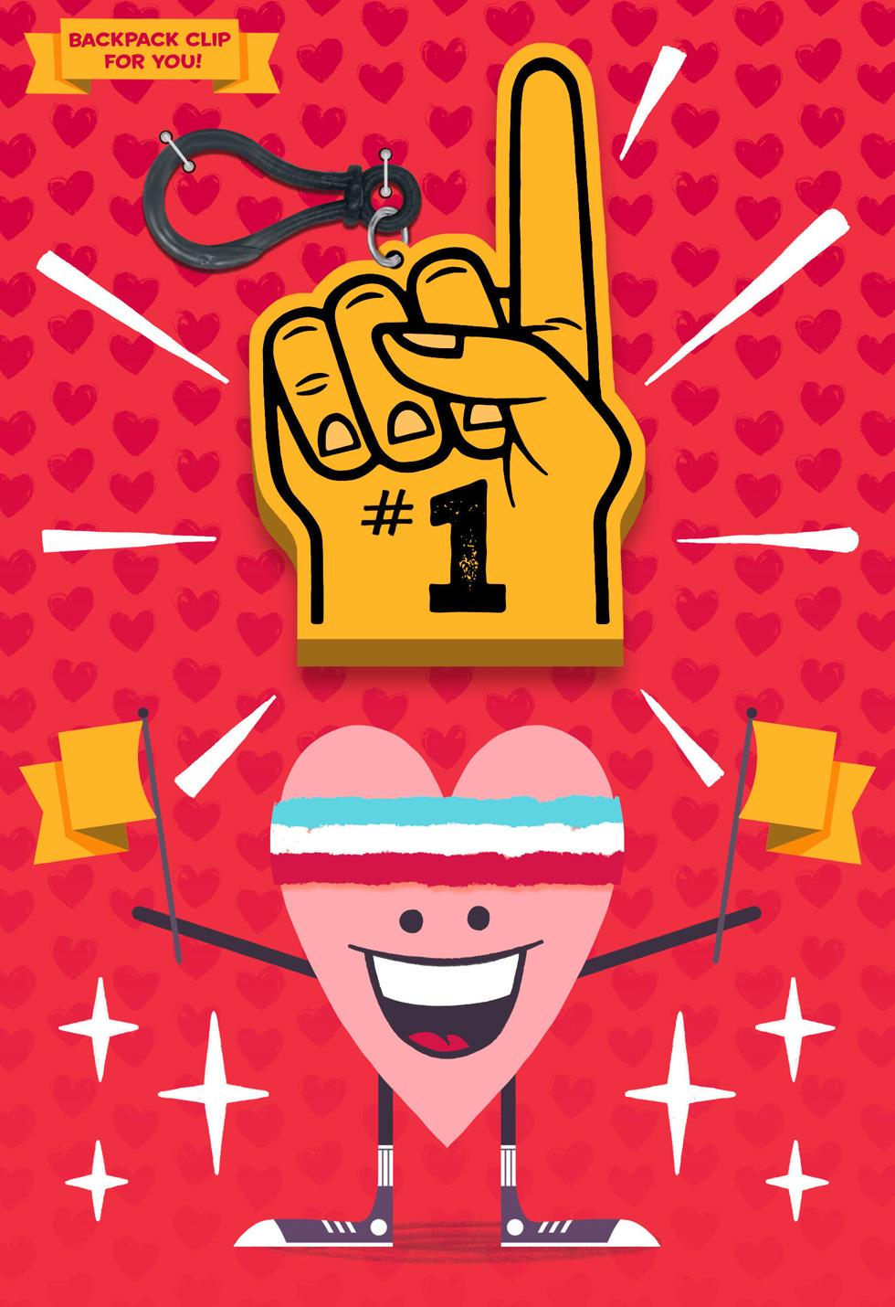 From Your Biggest Fan Valentine S Day Card With Backpack