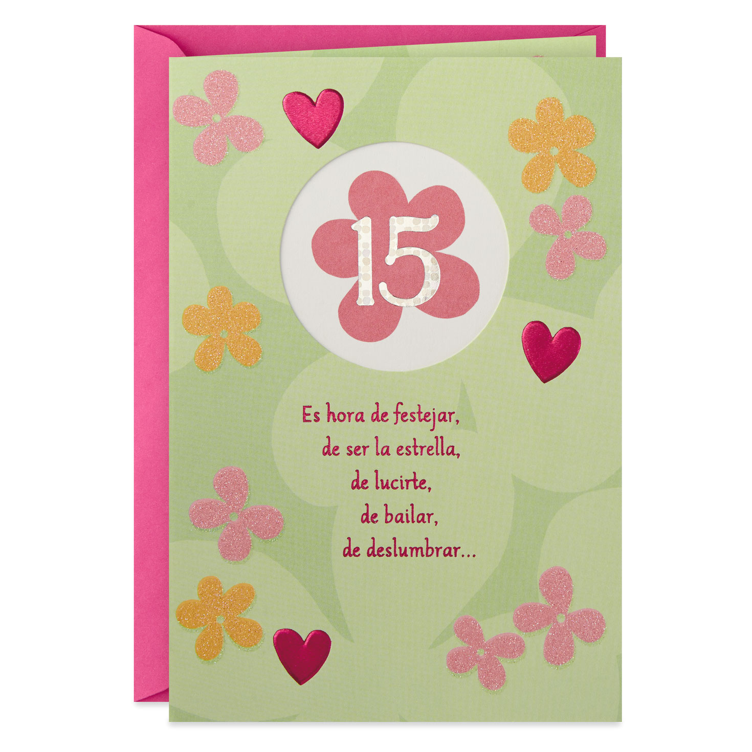 Time to Shine Spanish-Language Quinceañera Card