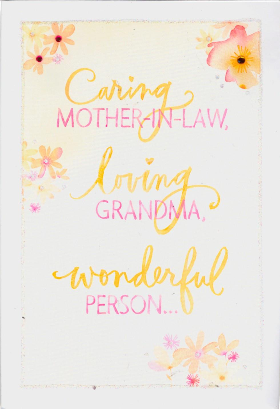 Caring mother in law loving grandma mothers day card greeting caring mother in law loving grandma mothers day card m4hsunfo