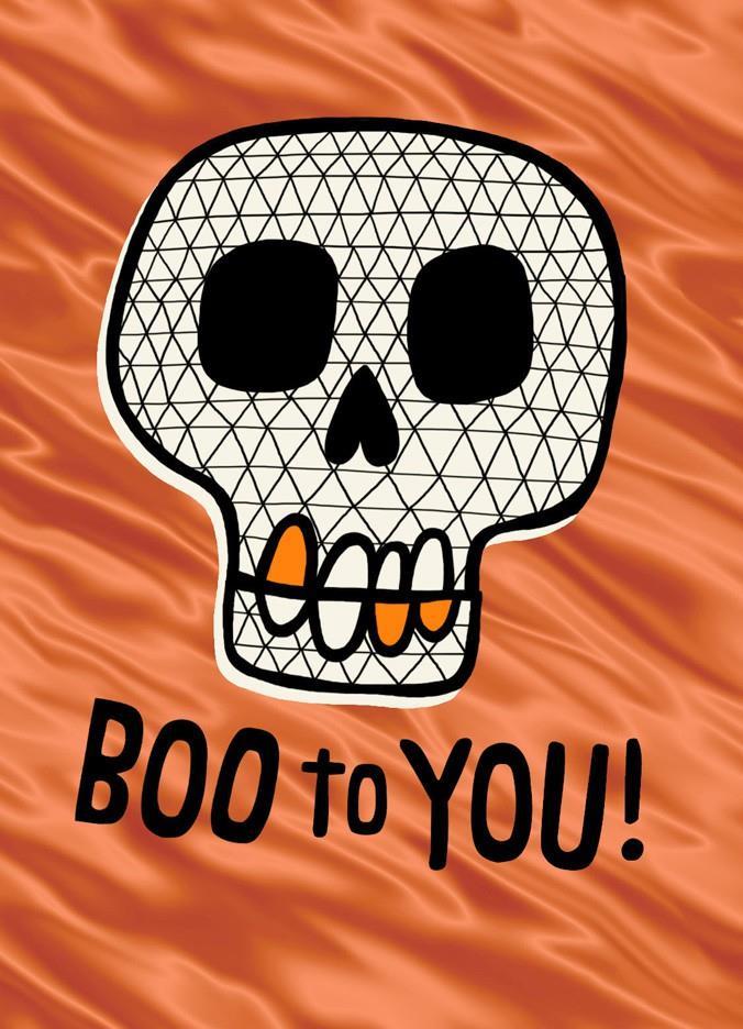 Boo Skull Halloween Card - Greeting Cards - Hallmark