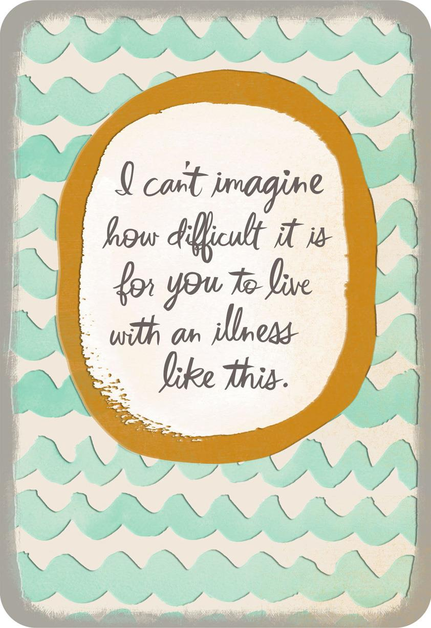 you u0026 39 re not alone thinking of you card