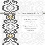 Silver and Gold Wedding Card for Son From Both, , licensedLogo