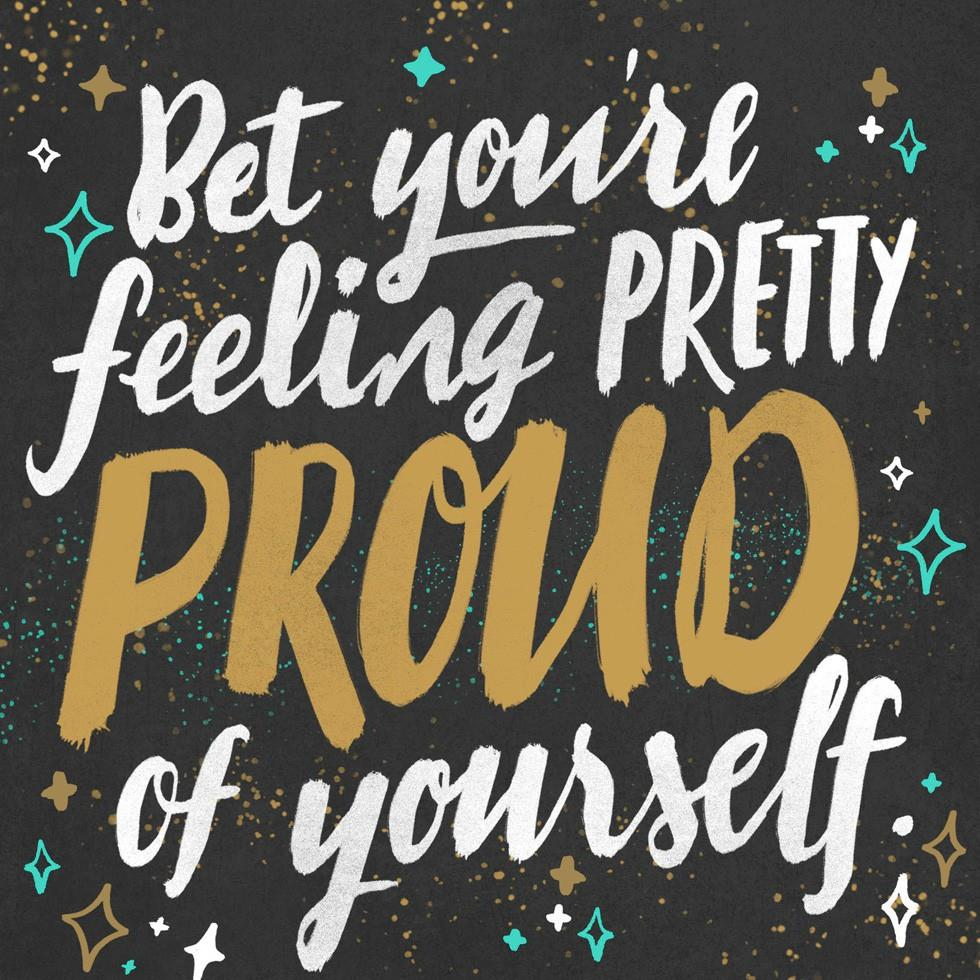 Be Proud Of Yourself Musical Congratulations Card