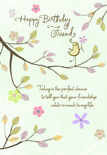 Thankful Friend Birthday Wishes Card