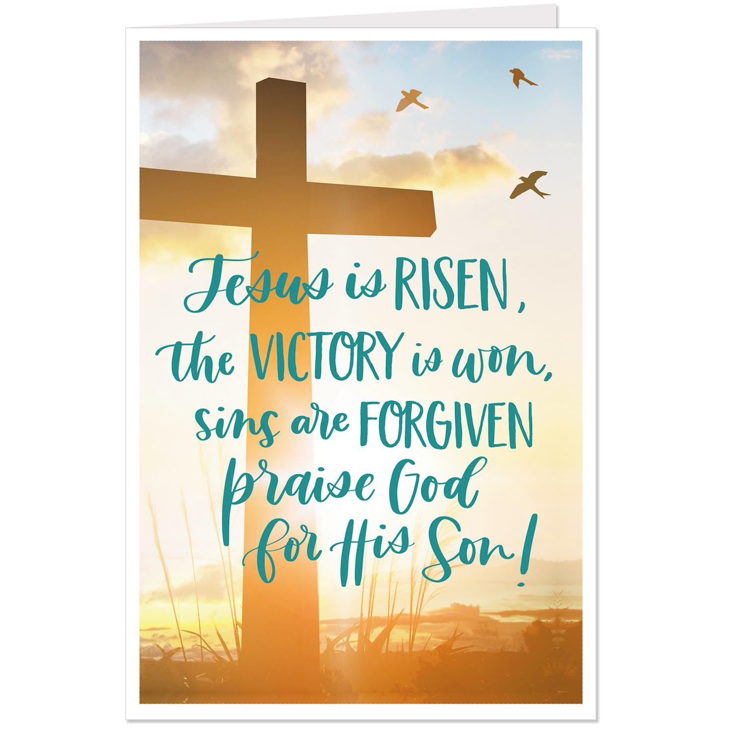 He Is Risen Religious Easter Cards Pack Of 6 Boxed