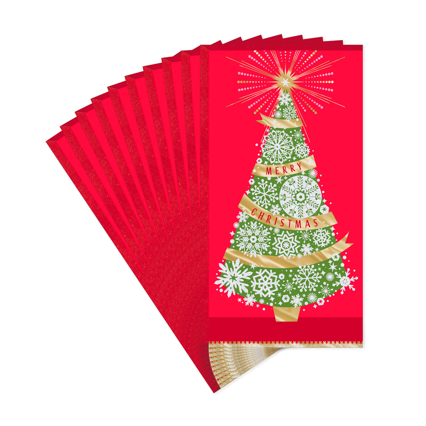 Tree Thinking Of You Money Holder Christmas Cards, Pack Of