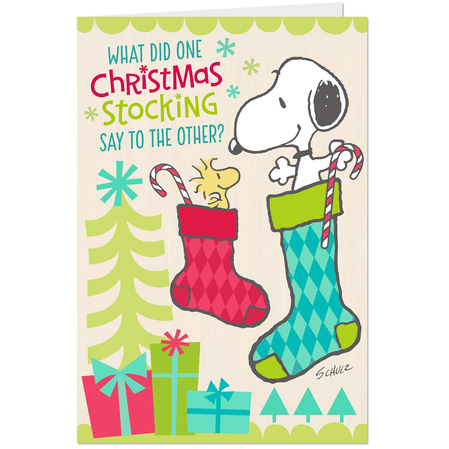 peanuts snoopy and woodstock stockings funny christmas card root source image jpg 1470x1470 funny christmas stocking - Funny Christmas Stockings