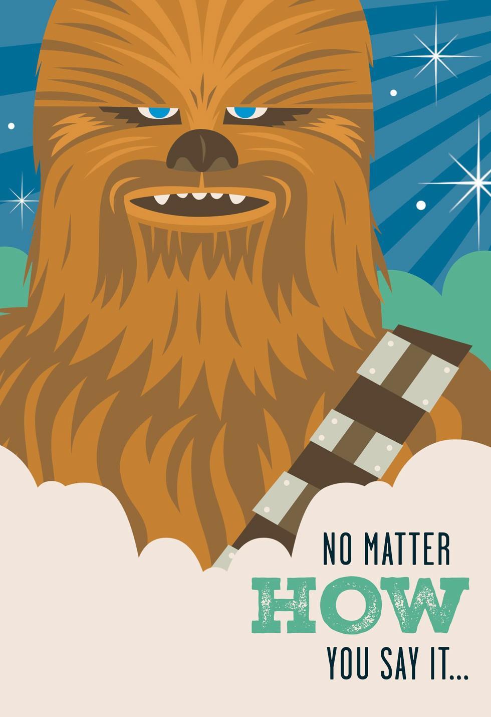 Star Wars Chewbacca Fathers Day Sound Card Greeting Cards – Chewbacca Birthday Card