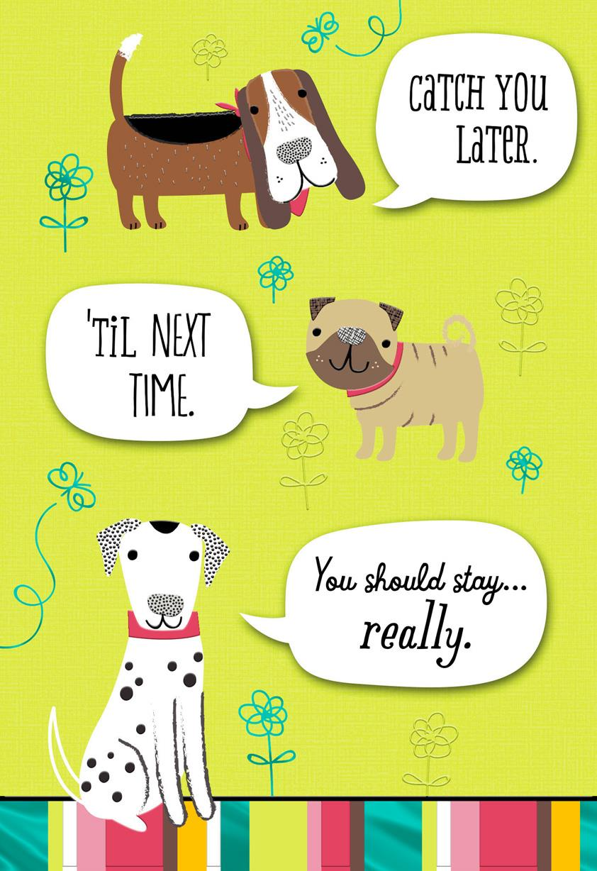 Sad Dogs Goodbye Card From Group - Greeting Cards - Hallmark