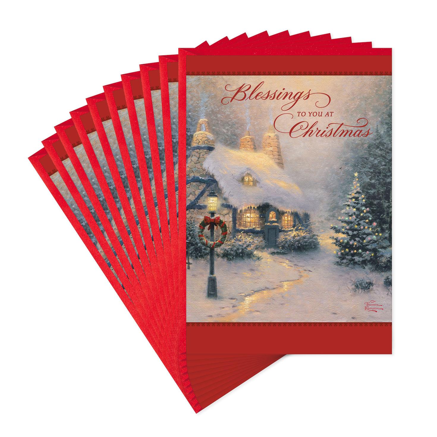 Thomas Kinkade Christmas Cards Pack Of 10 Boxed Cards Hallmark
