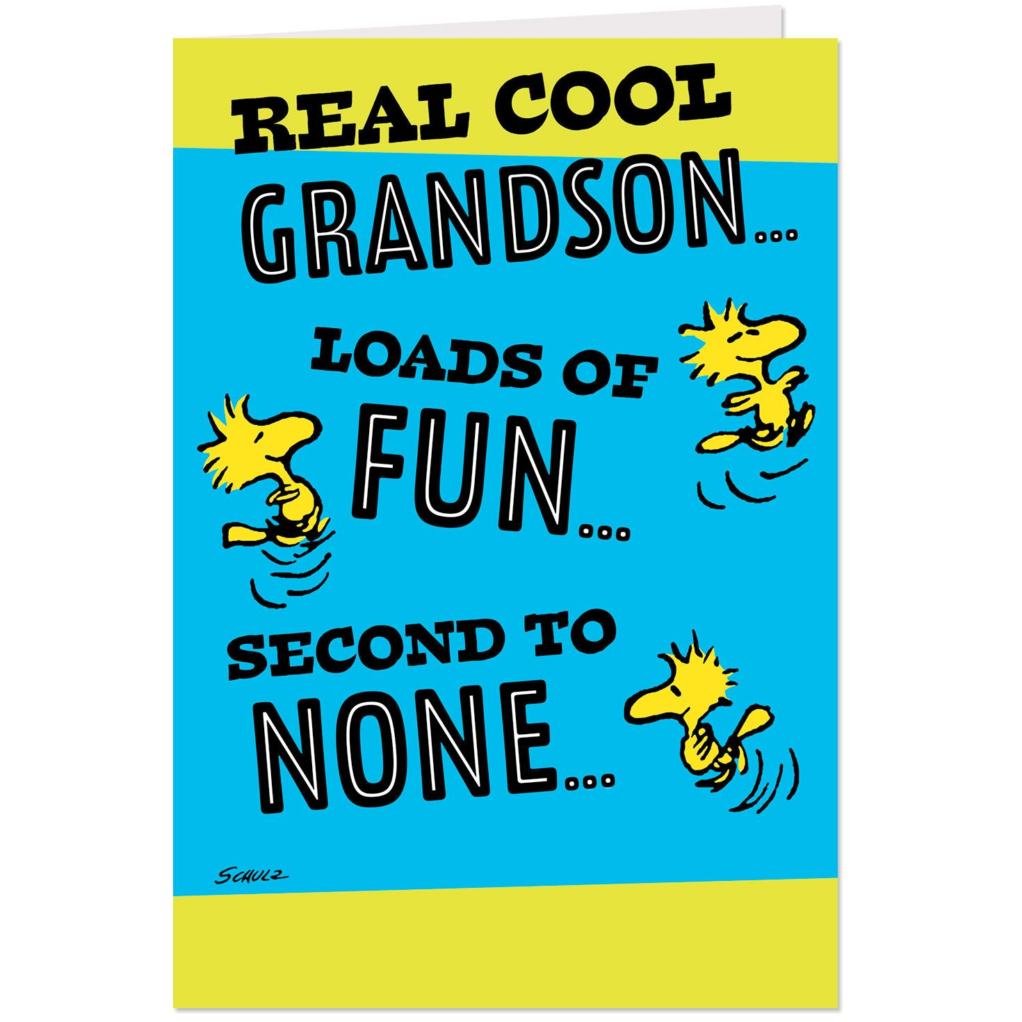 Peanuts® Snoopy And Woodstock Real Cool Grandson Pop Up