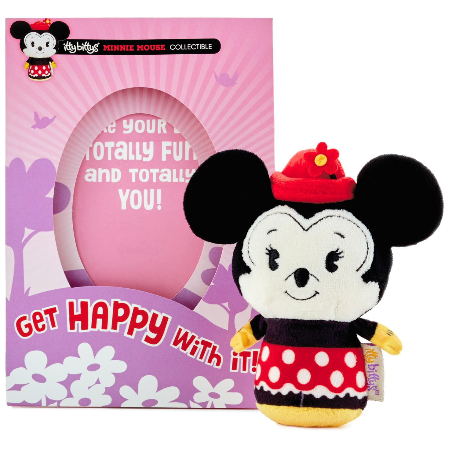 itty bittys Minnie Mouse Birthday Card With Stuffed Animal – Minnie Mouse Birthday Card