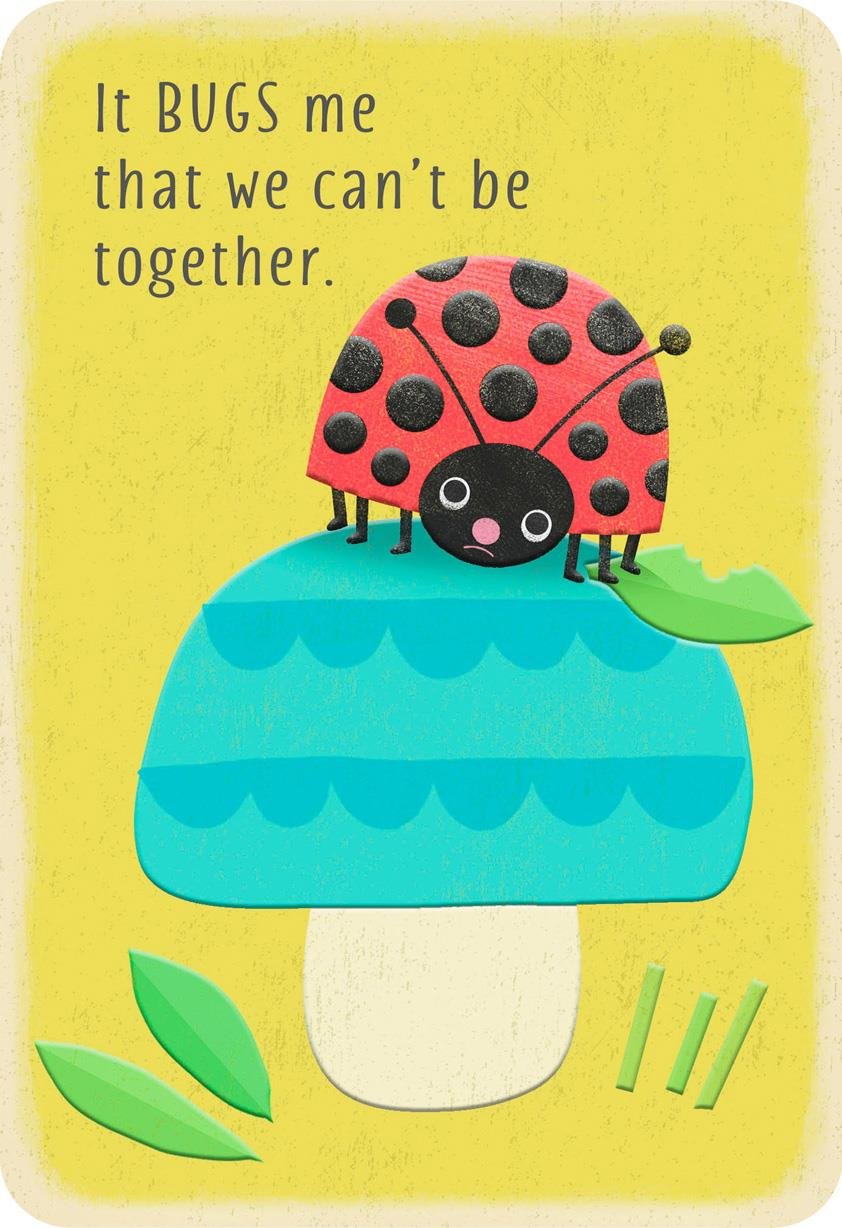 ladybug miss you card - greeting cards