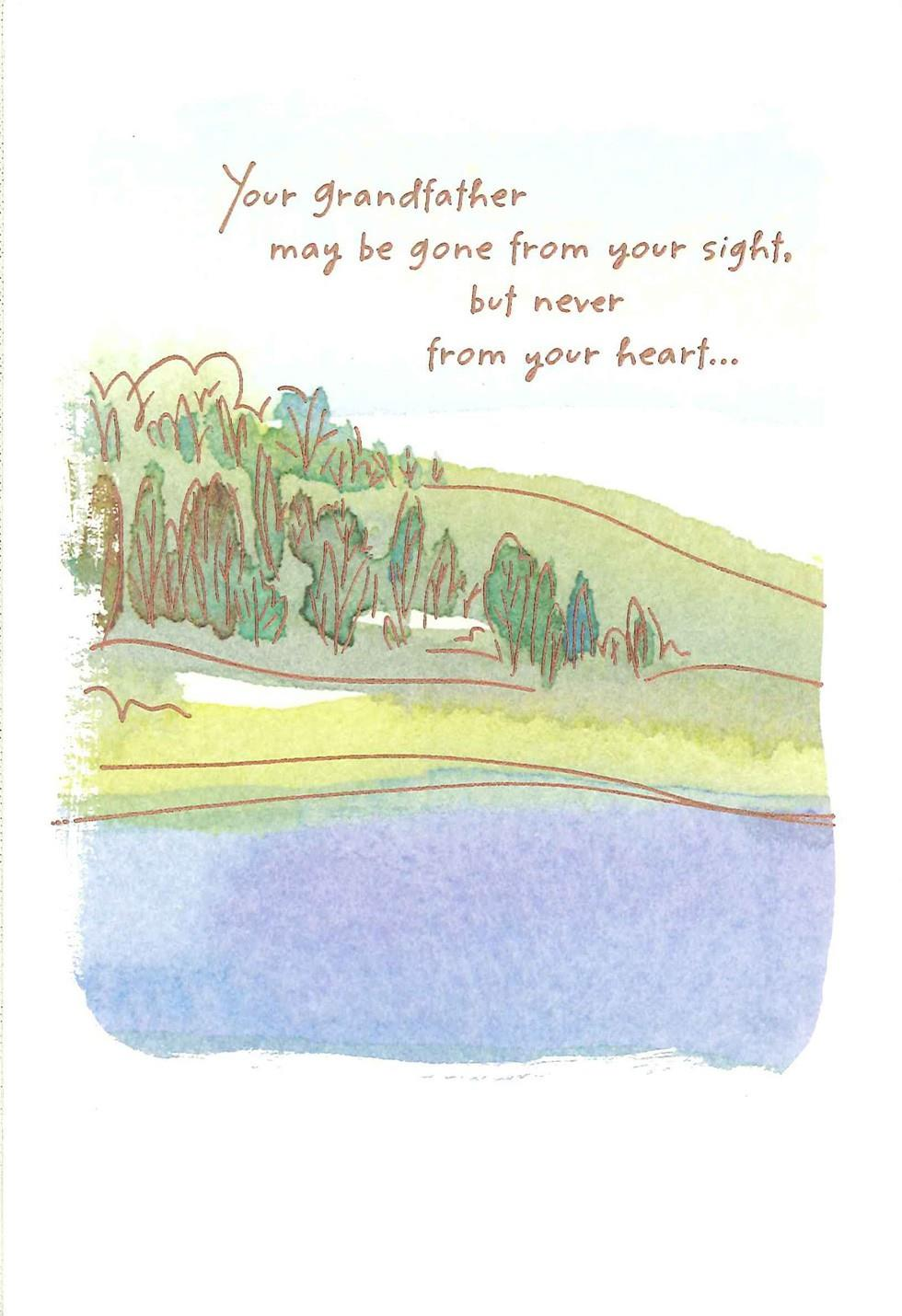 Watercolor landscape loss of grandfather sympathy card greeting watercolor landscape loss of grandfather sympathy card greeting cards hallmark altavistaventures Choice Image