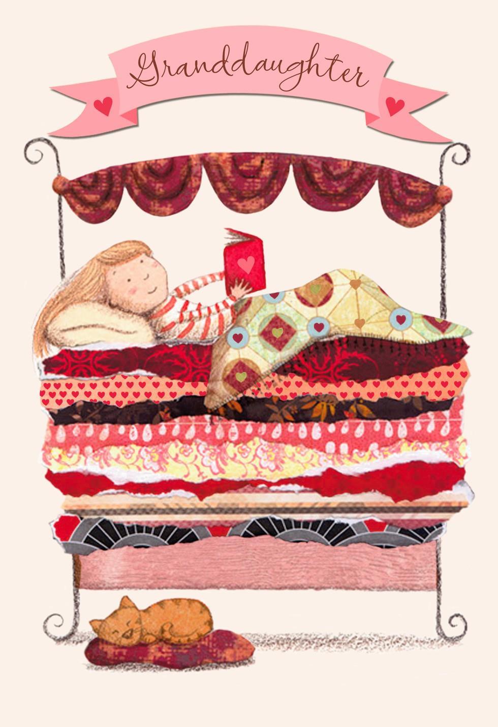 granddaughter reading valentine u0026 39 s day card