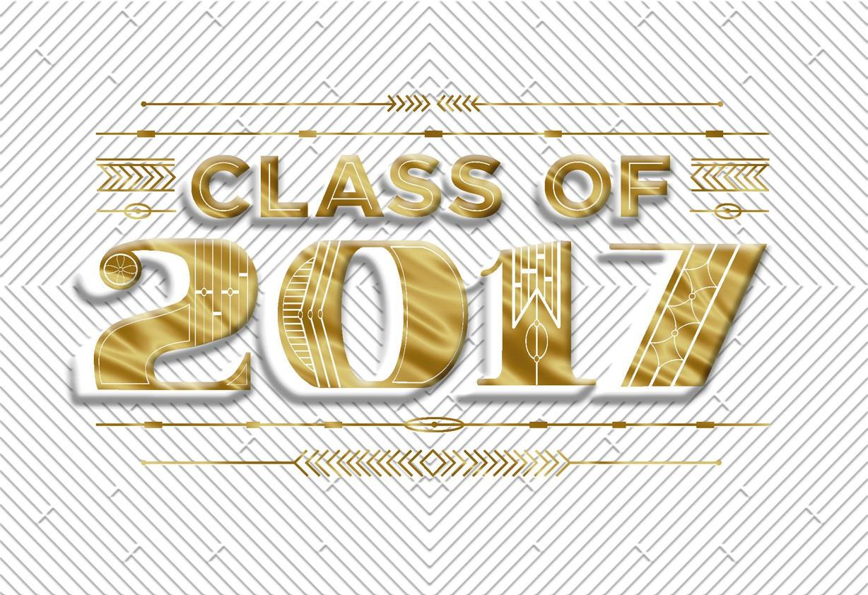 Gold Foil Class Of 2017 Graduation Money Holder Card