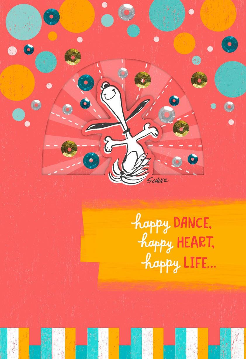 Snoopy Happy Dance Birthday Card