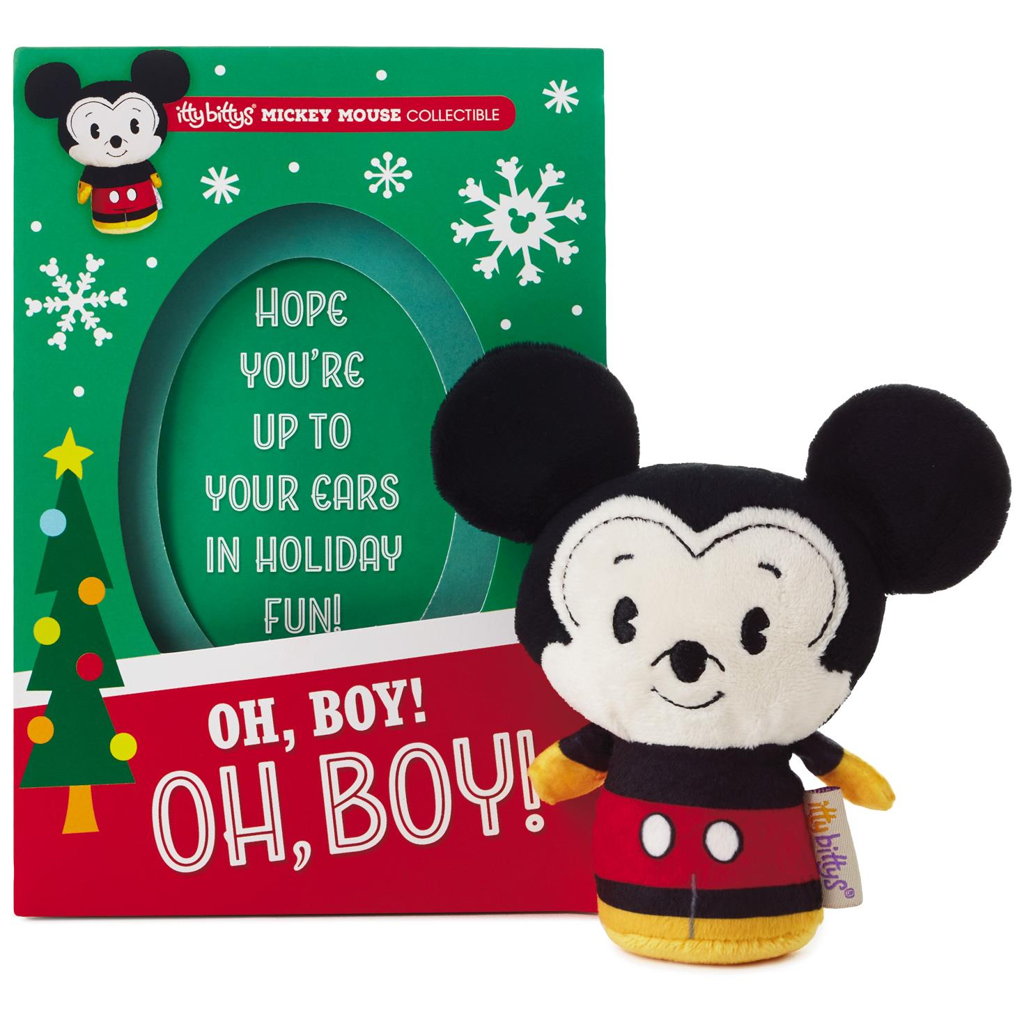 itty bittys mickey mouse christmas card with stuffed animal - Christmas Mickey Mouse