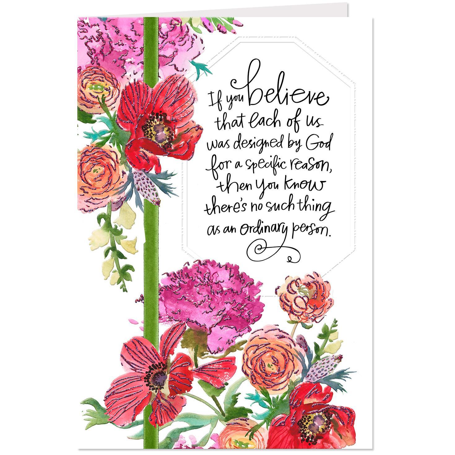 garden beauty floral birthday card  greeting cards  hallmark