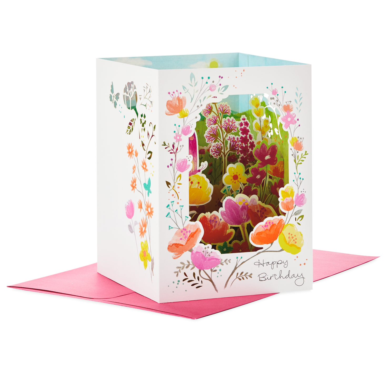 Beautiful Day Pop Up Shadow Box Birthday Card